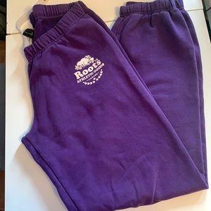 Roots purple sweatpants